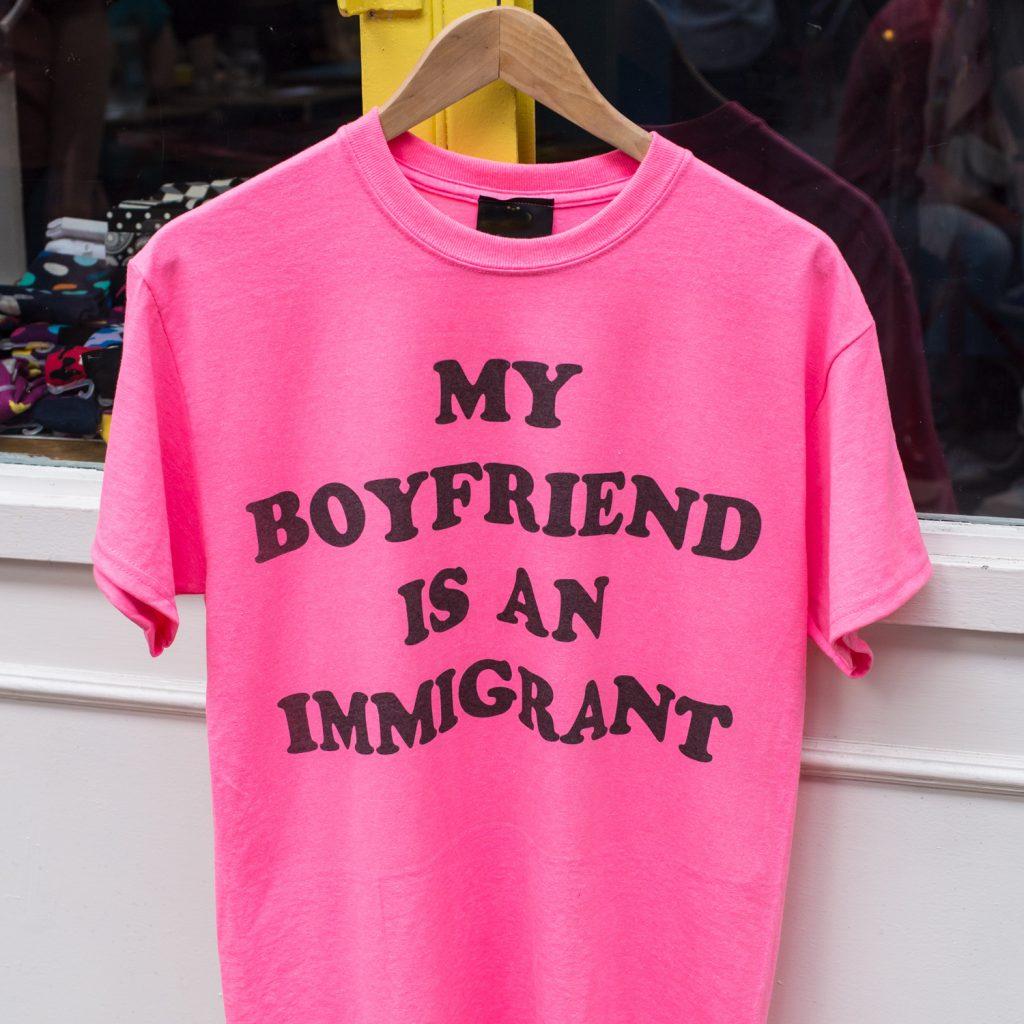 """My boyfriend is an immigrant"" T-shirt"