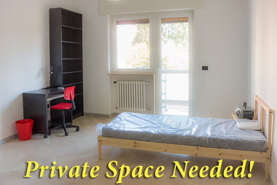 Simple space is all that a refugee needs