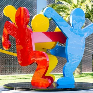 Keith Haring Sculpture on the grounds of the de Young Museum