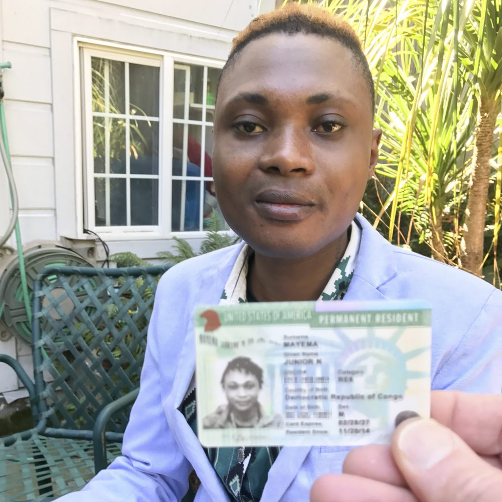 Junior with is Green Card