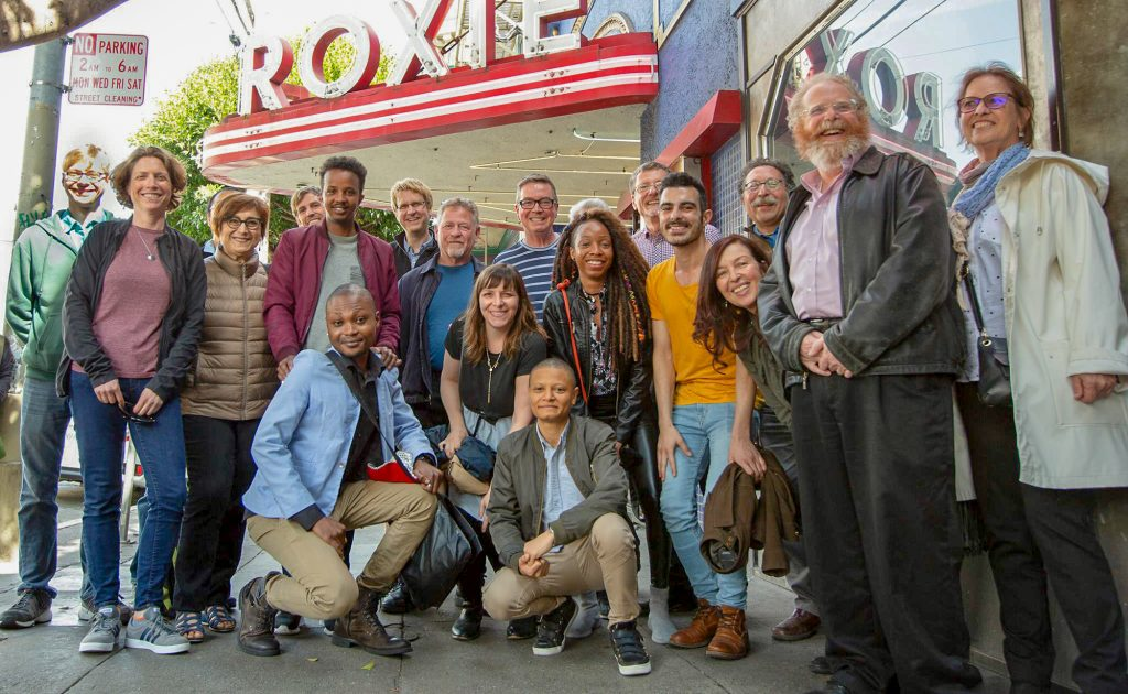 filmmakers, subjects, helpers, and friends at the documentary's director's preview in April, 2019.